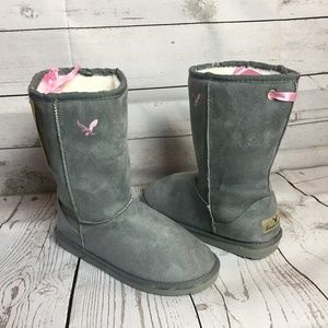 Gray Women's Warm Winter Short Boots